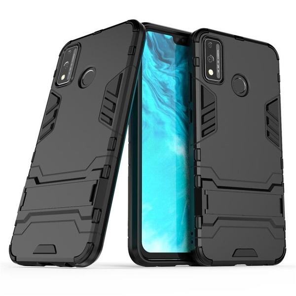 華為榮耀 9s 9x Lite X10 X10 Max 5G 鎧甲支架殼 矽膠軟邊硬殼 霧面防指紋防摔殼