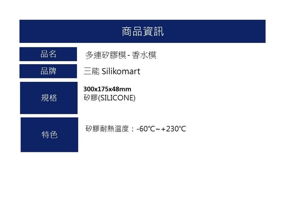 【silikomart】多連矽膠模 - 香水模