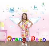 壁貼【橘果設計】天使 DIY組合壁貼 牆貼 壁紙室內設計 裝潢 壁貼