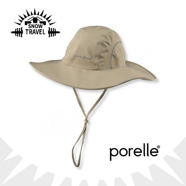 【SNOW TRAVEL 英國防水透氣遮陽大盤帽《卡其》】AH-16/遮陽帽/大圓盤帽/休閒帽/防曬/適登山健行