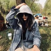 牛仔外套 衣女新款韓版寬鬆學生 春秋季連帽ins - 歐美韓熱銷