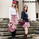 【Kinloch Anderson金安德森】甜美氣質腰飾帶格布活摺裙(粉紅) KA0774006