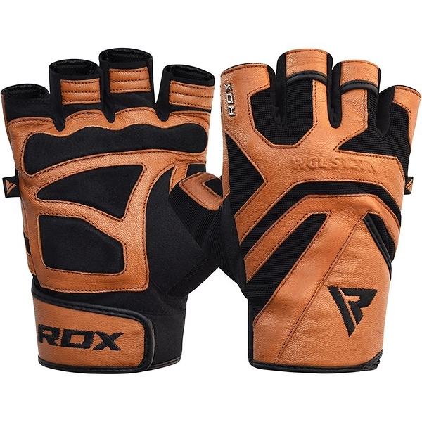 【線上體育】RDX GYM GLOVE LEATHER S12 TAN