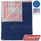 Coleman CM-22260 冒險者睡袋/C5/適溫5°C/露營化纖寢袋/午睡保暖被/懶人毯