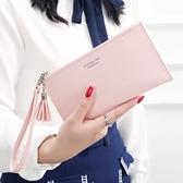 女士手拿長款錢包新款手包多功能卡包手機包零錢包 中秋節全館免運