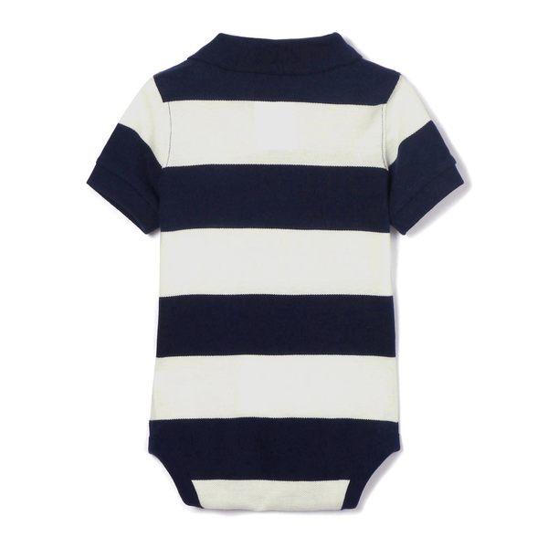 Gap男嬰兒 布萊納小熊刺繡短袖包屁衣 442320-海軍淺藍