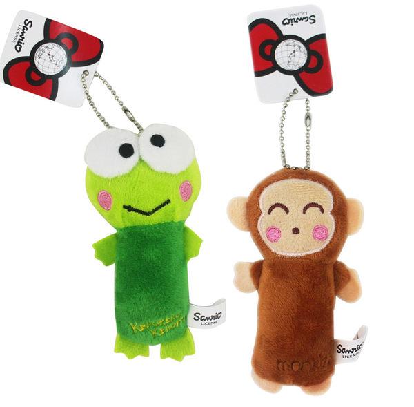 【卡漫城】 吊飾 兩款選一 ㊣版 淘氣猴 大眼蛙 珠鍊 絨毛 裝飾品 鑰匙圈 掛飾 Monkichi Keroppi