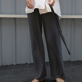 休閒長褲-簡約純色直筒休閒女闊腿褲3色73xh3[巴黎精品]