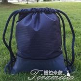 球包-訂製束口袋籃球袋大容量戶外男女健身足球袋抽繩雙肩包球鞋運動包提拉米蘇