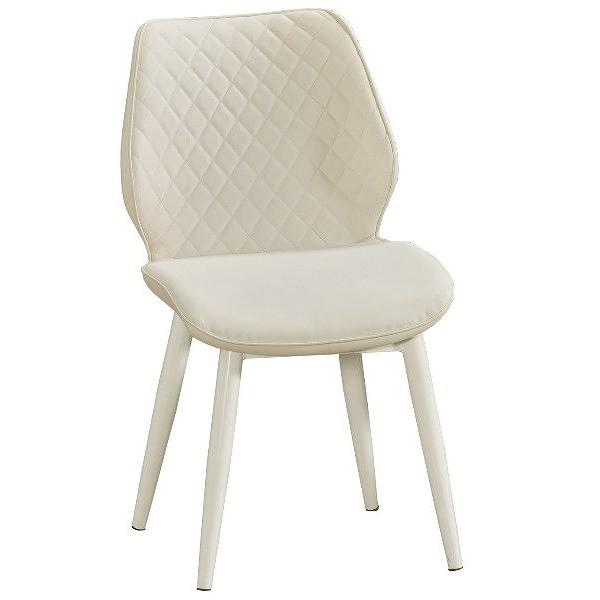 餐椅 QW-710-5 妙蛙白色皮餐椅【大眾家居舘】
