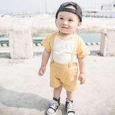618好康鉅惠嬰兒童男童時尚潮衣服短袖背帶褲子短褲夏裝
