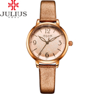 JULIUS 聚利時 迷蝶花園立體鏡面皮帶腕錶-閃耀金/31mm 【JA-929E】