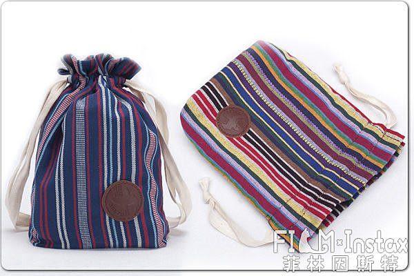 【菲林因斯特】攝途 波希米亞 民俗風 布紋厚綿束口袋 相機包 拍立得包 /mini25 NEX5T A6000 SP-1