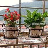 買2送1  鐵藝陽臺掛式欄桿裝飾花盆架懸掛多層室內綠蘿花架子  優樂美