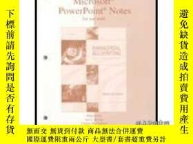 二手書博民逛書店Powerpoint?罕見Notes For Use With Managerial Accounting-幻燈片