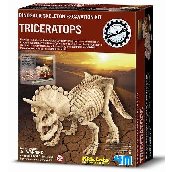 《4M挖掘考古》挖掘三角龍 Dig a Dino Triceratops ╭★ JOYBUS玩具百貨