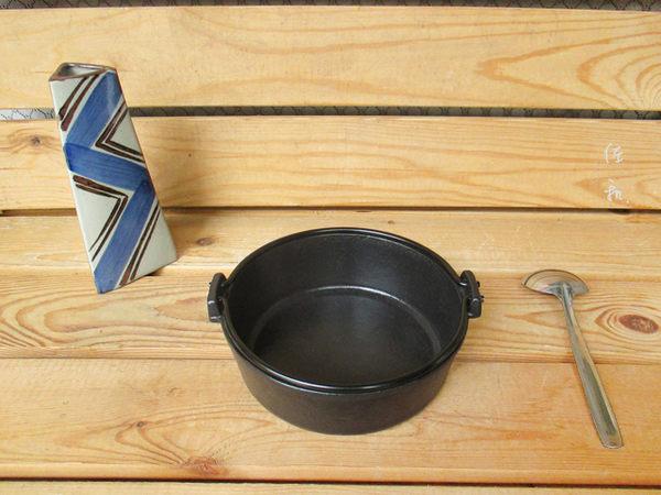 ~佐和陶瓷餐具~【24I52016-C鉎壽喜鍋(霧面琺瑯)16cm】/ 煮鍋 湯鍋 鑄鐵鍋 壽喜燒 /