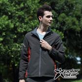 Polarstar 男Fleece防風保暖外套『炭灰』P17239 拉鍊口袋.防潑水.透氣.彈性袖口.耐磨耐用.露營