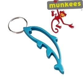 【Munkees德國 海豚開瓶器】K3440/開瓶器/鑰匙圈/造型鑰匙圈/逃生必備/登山★滿額送