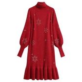 孕婦裝秋冬裝2打底衫秋冬季高領連衣裙內搭潮媽毛衣 優拓