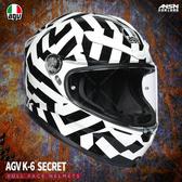 [安信騎士] 義大利 AGV K-6 彩繪 SECRET 黑白 全罩 超輕量 安全帽 亞洲版 K6