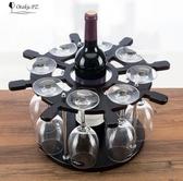 船舵款促銷木製酒架紅酒架歐式創意葡萄酒架吧台高腳杯架家用裝飾