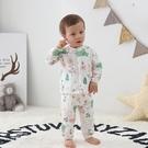 寶寶純棉紗布空調服長袖薄款家居服兒童夏睡衣男女童嬰兒透氣套裝
