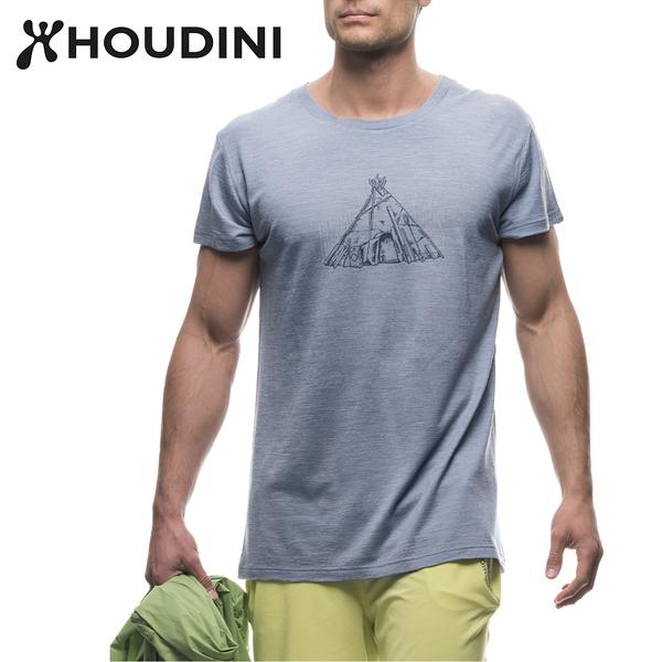 瑞典【Houdini】M`s Activist Message Tee 男圓領羊毛排汗短袖 235494