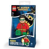 《 樂高積木 LEGO 》SUPER HEROES 超級英雄 LED 燈鑰匙圈 - 羅賓╭★ JOYBUS玩具百貨