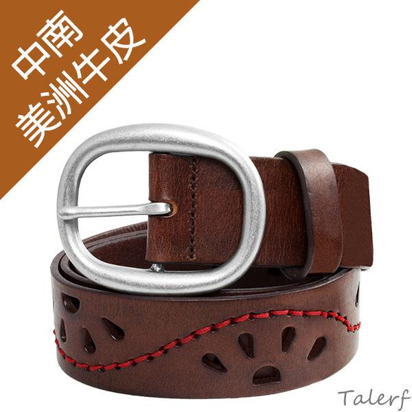 TALERF優雅古典風皮帶(咖啡色/共2色)-女 /真皮 牛皮/台灣製造