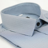 【金‧安德森】藍白細線條長袖襯衫