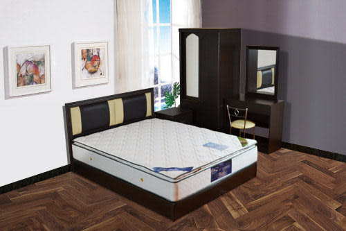 床墊 三線乳膠6尺雙人加大獨立筒床【時尚屋】