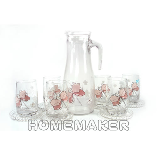 【THE GLASS】優質小紅花玻璃水杯禮盒_TG-GCN30AH