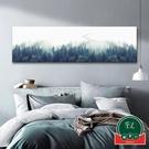 床頭橫幅簡約無框畫裝飾畫臥室沙發背景掛畫【福喜行】