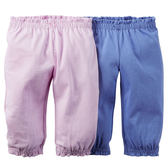 美國Carter's卡特童裝 女寶寶 居家休閒長褲 二件式套裝 多色【CA126G122】