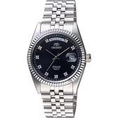 ORIENT東方 領導者日曆機械錶-黑/36mm SEV0J003B