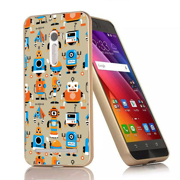 ♥ 俏魔女美人館 ♥{很多機器人-立體浮雕金屬邊框}ASUS Zenfone Selfie手機殼 保護套 保護殼 保護套