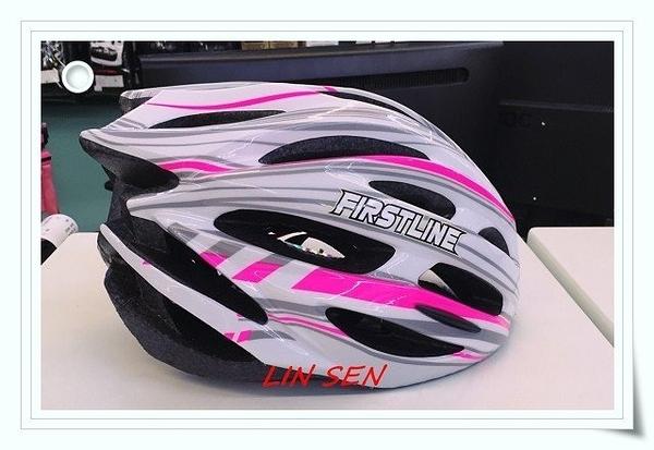 M2R自行車帽,腳踏車帽,First Line 031-F/白粉
