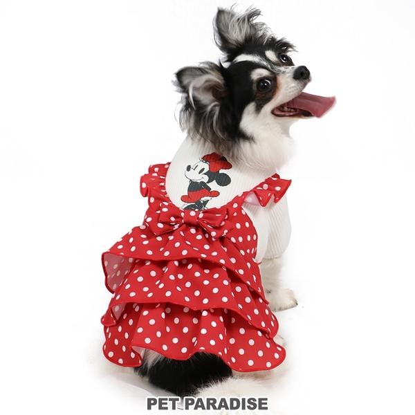 【PET PARADISE 寵物精品】DISNEY 米妮點點假二件V領洋裝 (DSS/DS)寵物衣服