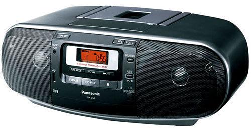 【中彰投電器】Panasonic國際牌(USB/CD)手提收錄音機,RX-D55【全館刷卡分期+免運費】虛擬3D音效~