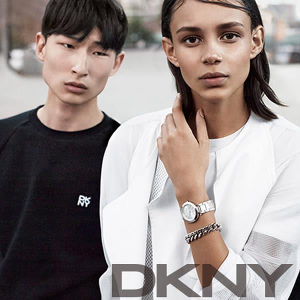 DKNY 紐約時尚陶瓷腕錶/手錶NY2528-白/36mm NY2528