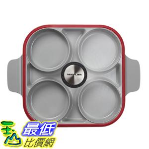 [COSCO代購] W124266 Neoflam 雙耳四格多功能煎鍋含蓋 28 公分