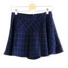 【MASTINA】格紋褲裙-藍  秋裝限定嚴選