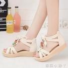 2021新款仙女涼鞋女鞋夏季韓版厚底波西米亞學生復古原宿風沙灘鞋 蘿莉新品