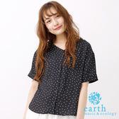 ❖ Summer ❖ V領點點雪紡襯衫上衣 - earth music&ecology