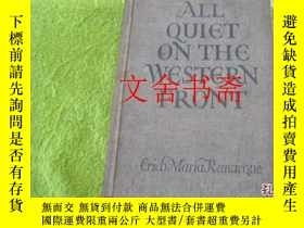 二手書博民逛書店【罕見原版 】ALL QUIET ON THE WESTERN
