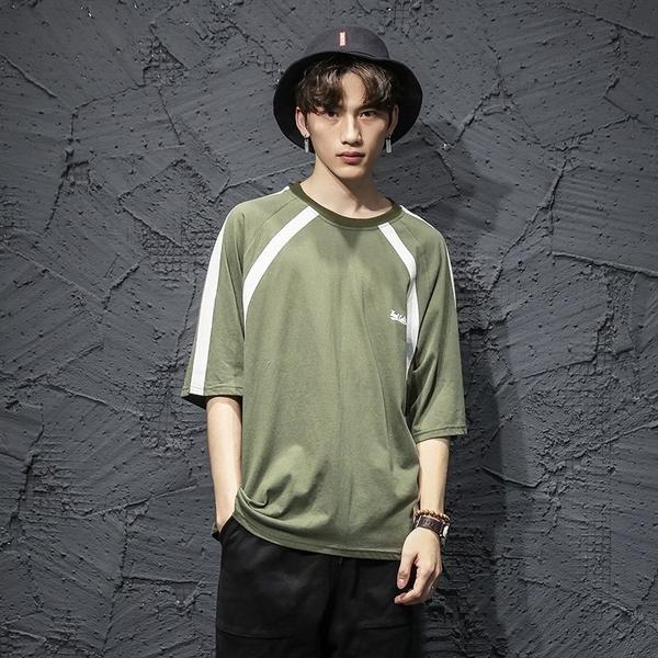 FINDSENSE H1 2018 夏季 個性  文藝  T恤 潮流 寬鬆 短袖