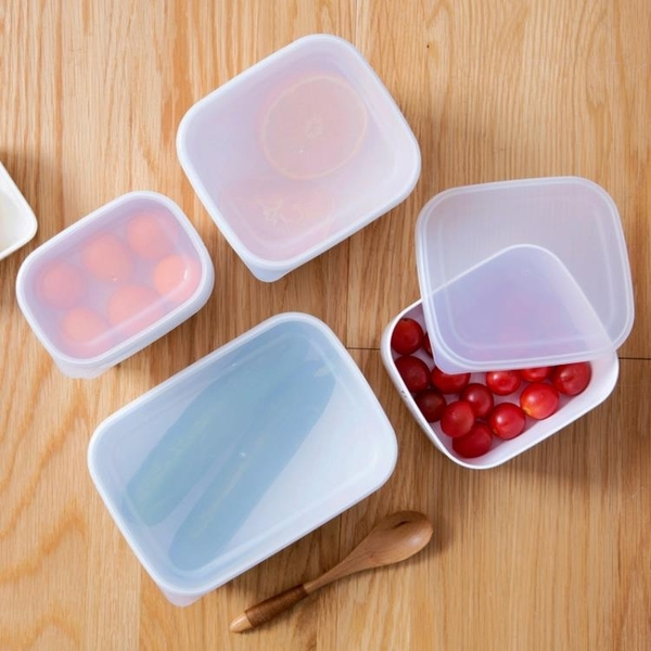 長方形保鮮盒塑料帶蓋食品盒