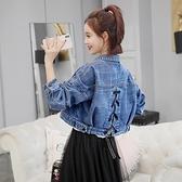 牛仔外套 秋季新款女寬鬆韓版學生高腰牛仔外套短款流行百搭小個子衣服 維多原創