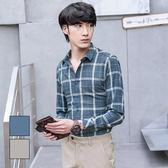 男 線條/漸層/格紋/修身/長袖襯衫 L AME CHIC 撞色線格紋長袖襯衫【FTLS020902】
